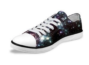 Black Galaxy Canvas Shoes