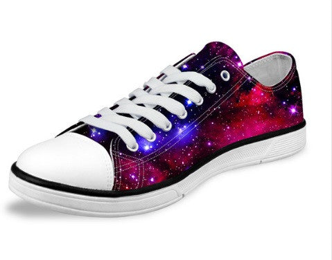 Pink Galaxy Star Canvas Shoes