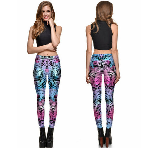 Gradient Leaves Leggings
