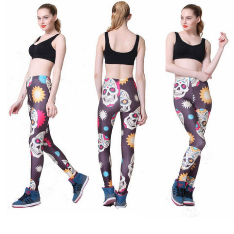 Stars Skull Cartoon Leggings
