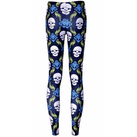 Retro Skull Leggings