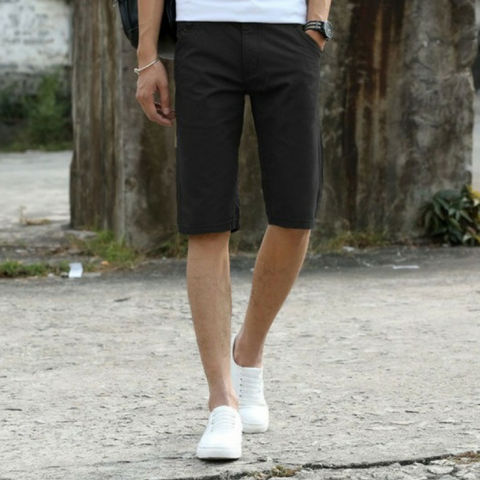 Casual Men Shorts Black Pants