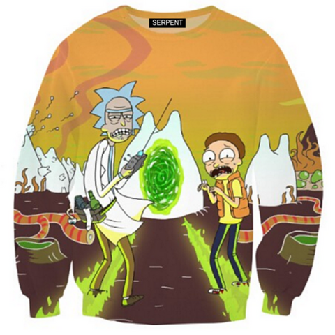 Rick and Morty 3D Sweatshirt
