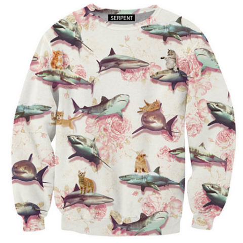 Sharks and Kittens Sweatshirt
