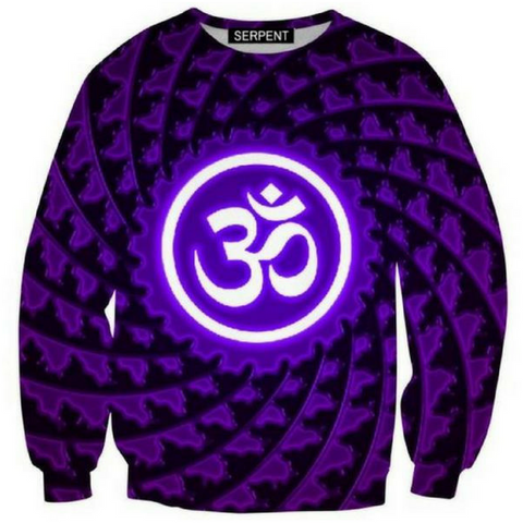 Om Purple 3D Sweatshirt