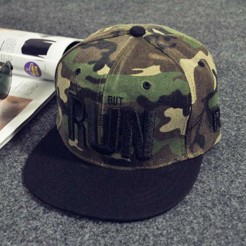 Don't Walk But Run Army Snapback