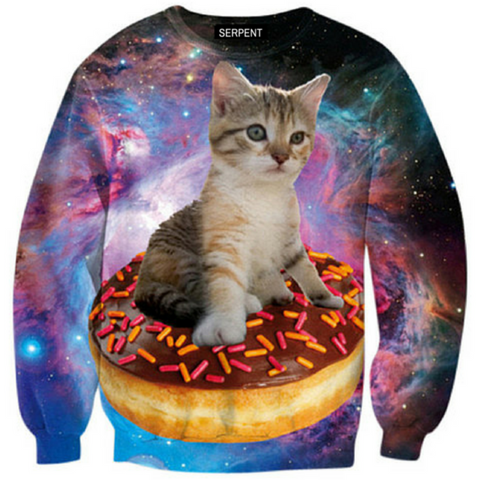 Donut Cat Of The Galaxy Sweatshirt