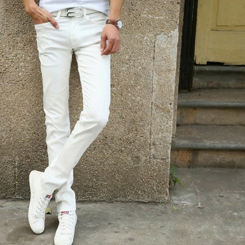 White Stretch Skinny Jeans