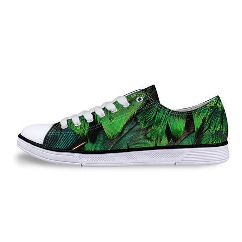 Women's Green Feather Shoes