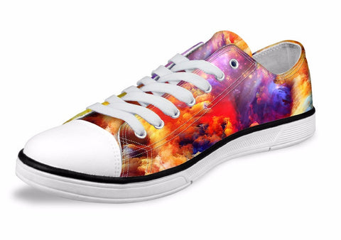 Women's Fashion Galaxy Star Canvas Shoes