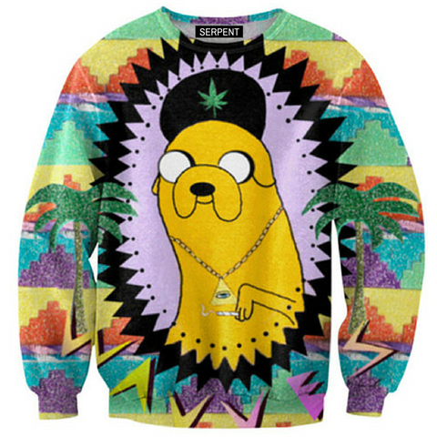 Jake The Dog Waves Sweatshirt
