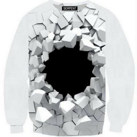 White Hand Black Hole Sweatshirt
