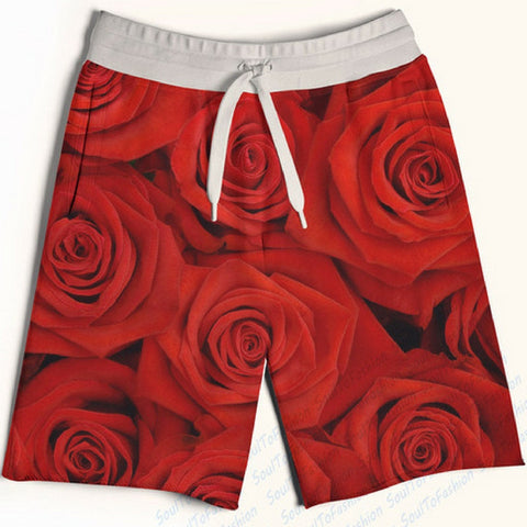 Red Roses Shorts