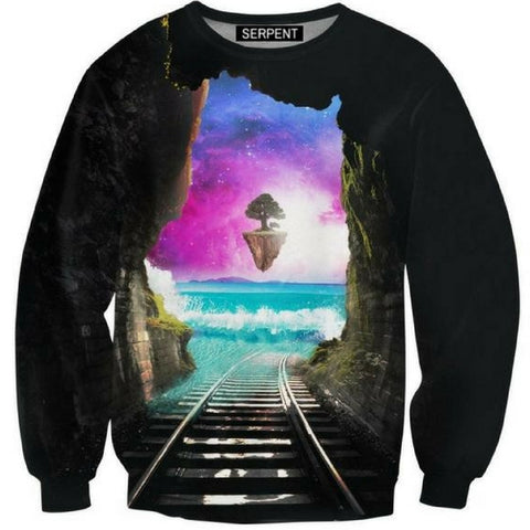 Rail Way 3D Sweatshirt