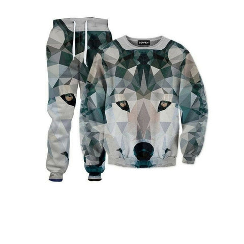 3D Abstracto Wolf Tracksuit