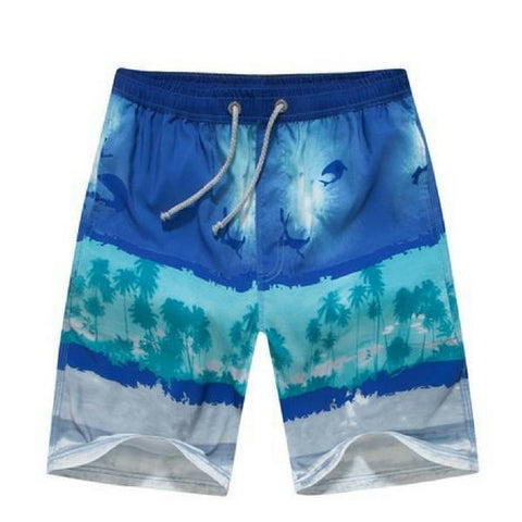 Summer Blue Mens Board Shorts
