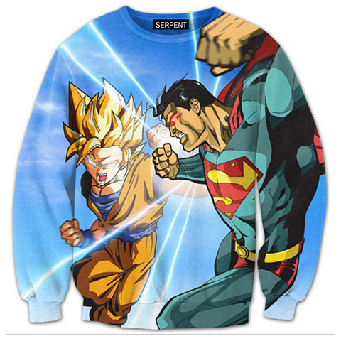 Super Saiyan vs Super Man Sweatshirt