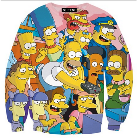 Simpsons Collage Sweatshirt