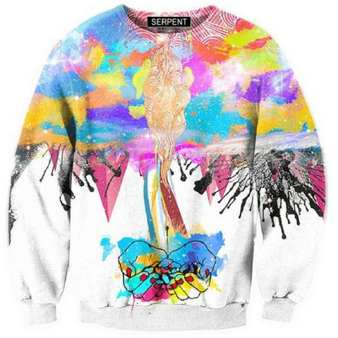 3D Abstract Destruction Sweatshirt