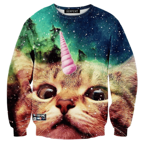 Unicorn Space Cat Sweatshirt