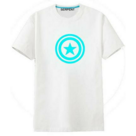 Glowing Captain Amerika T-Shirt