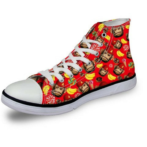 Women's Monkey Red Shoes