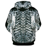 Skeleton Halloween Hooded