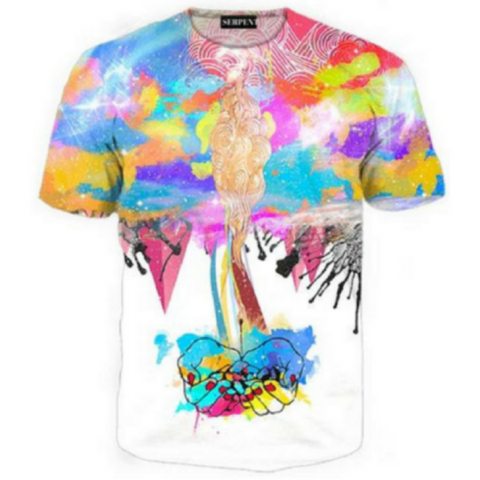 3D Abstract Destruction T-Shirt