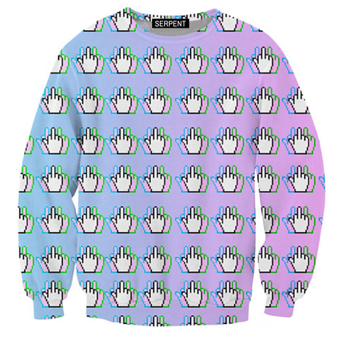 Trippy Middle Finger Sweatshirt