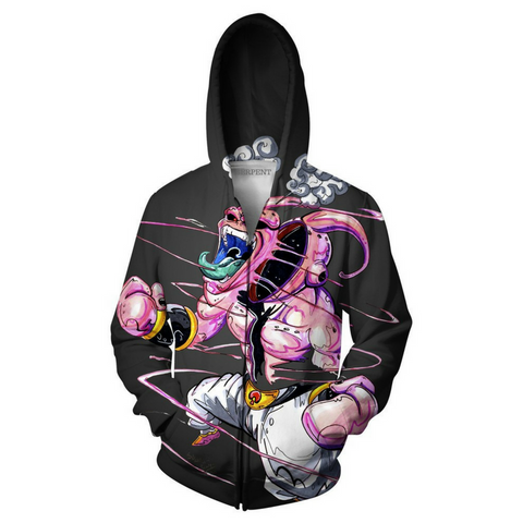 Kid Buu Dragon Ball Hoodie Jacket