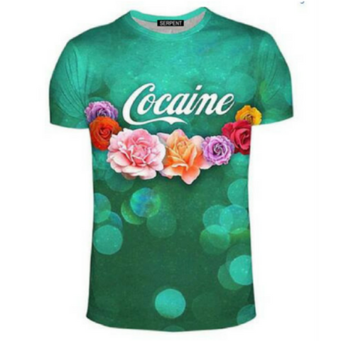 Cocaine And Flowers T-Shirt