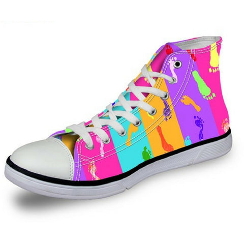 Women's colored footprints Shoes