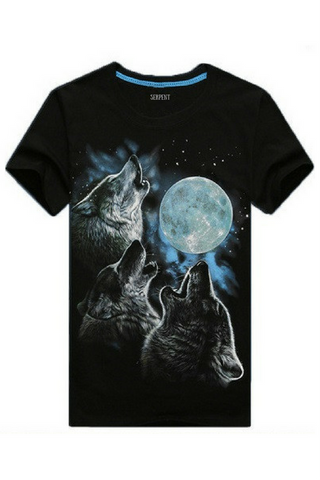 Cool Wolf Glow In The Dark T-Shirt