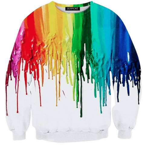 3D Oil Paint Sweatshirt