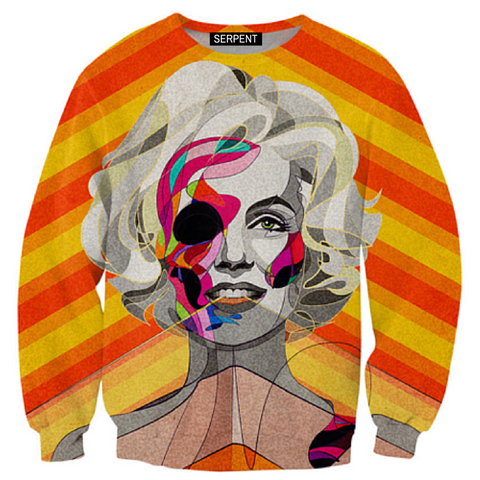 Marilyn Monroe Abstract Sweatshirt