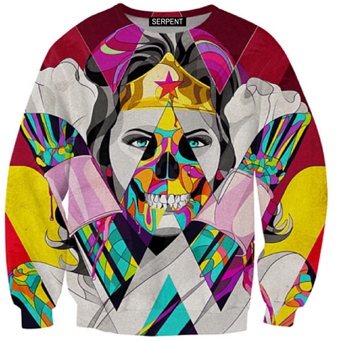 Wonder Woman Skull 3D Sweatshirt