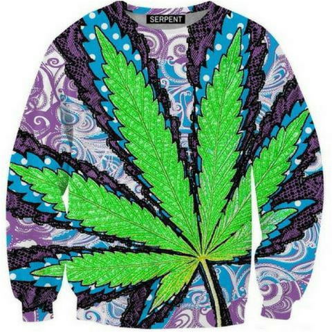 big green big leaf thick Sweatshirt