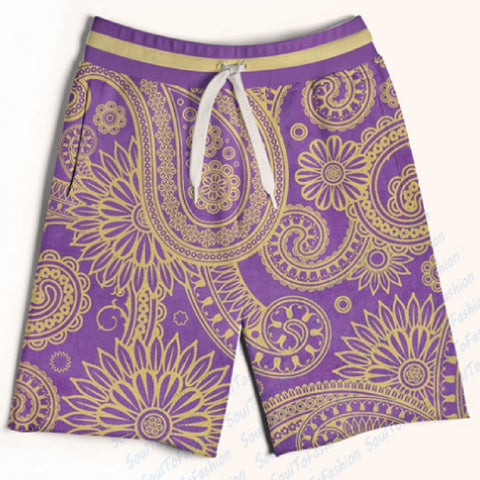 King Purple Paisley Shorts