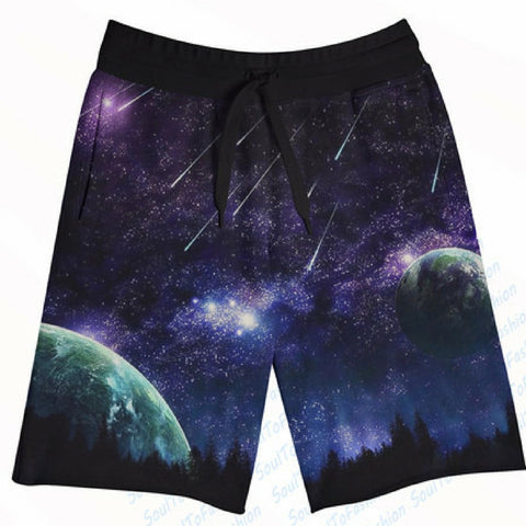 Galaxy Meteor Strikes Shorts