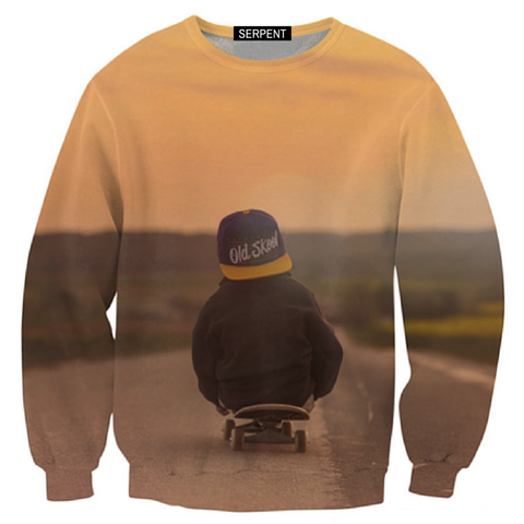 Skateboard Kid Sweatshirt