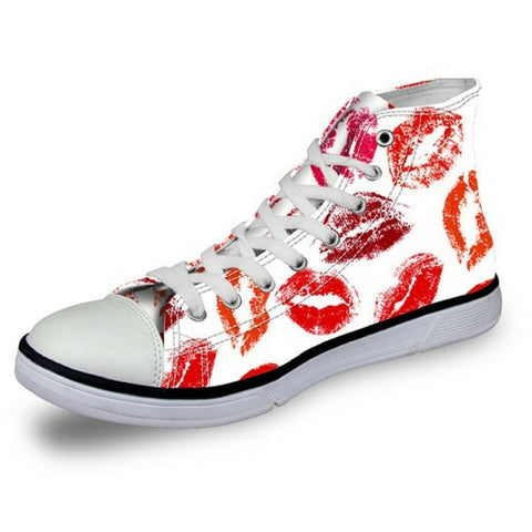 Women's Lip Blush Canvas Shoes