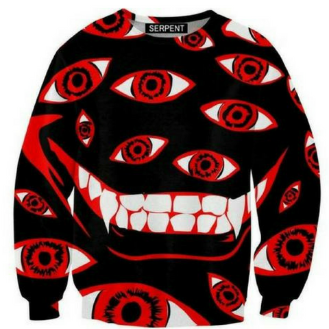 Control Art Restriction 666 3D Sweatshirt