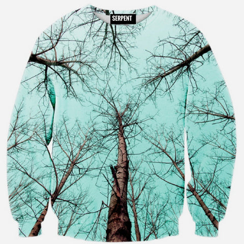 Trees Sky Printed Sweatshirt