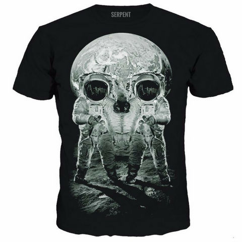Astronaut On The Moon Tshirts