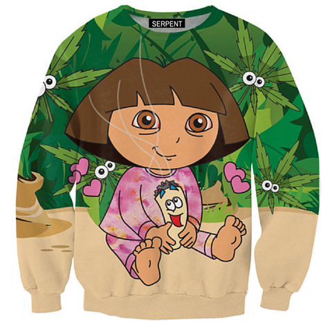 Dora The Kush Explorer Sweatshirt
