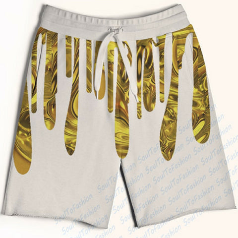 Dripping Liquid Gold Shorts