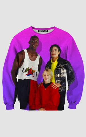 90s People Pullover Jordan and Michael Jackson Sweatshirt