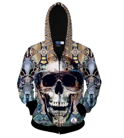 The Aviator Skull Hooded Jacket