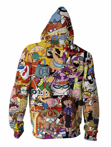 90's All Over Print Hooded Jacket