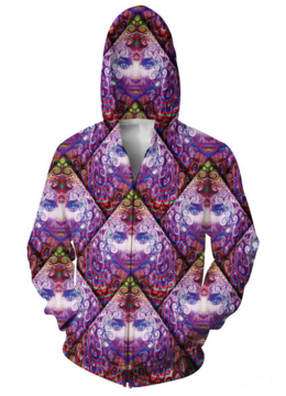 Purple Wowie Hooded Jacket